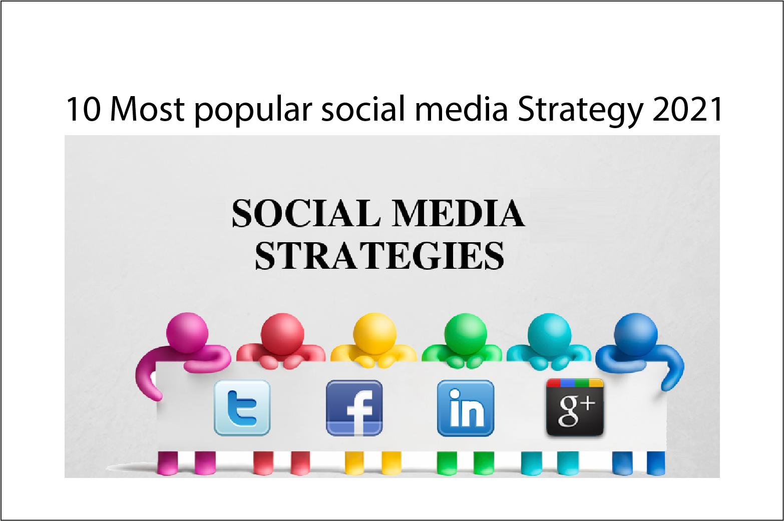 Most Popular Social Media Strategy 2021
